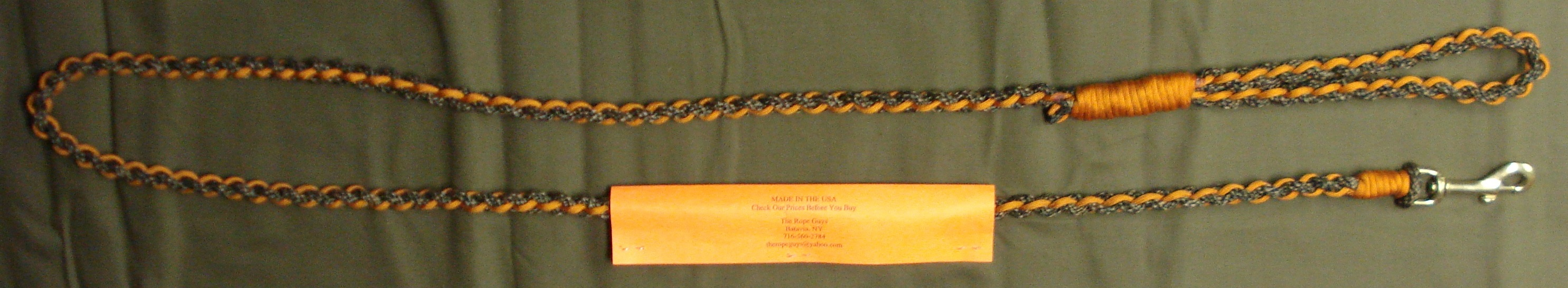 Camo Braided Lead With Rust Orange